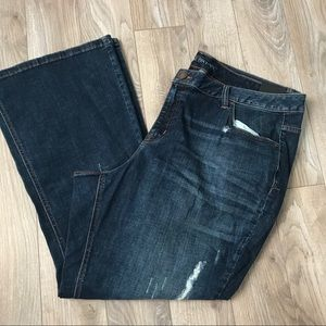 NEW Lane Bryant 24 short low rise boot cut jeans